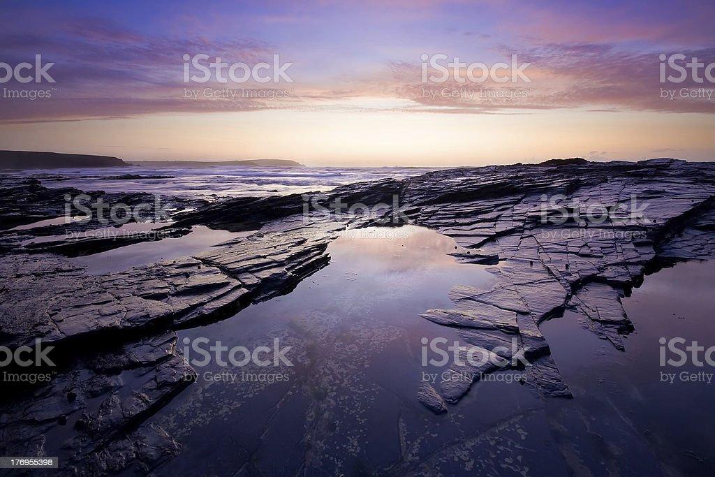 Cornish sunset stock photo