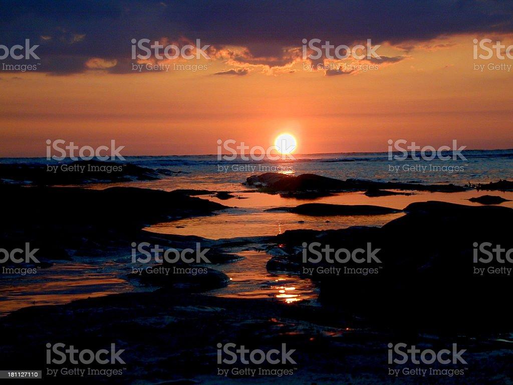 Cornish sunset royalty-free stock photo