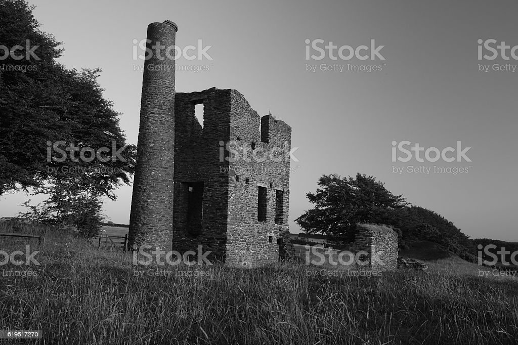 Cornish Tin Mine stock photo