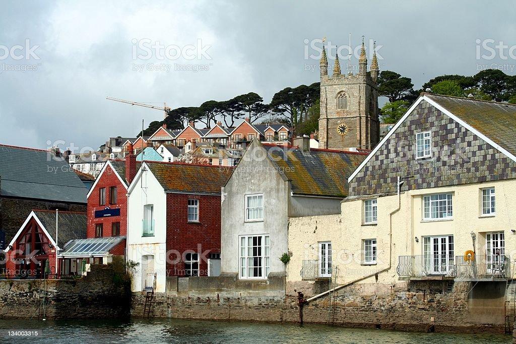 Cornish town stock photo