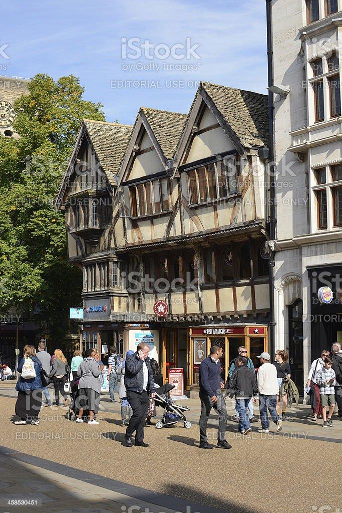 Cornmarket Street. Oxford. England royalty-free stock photo