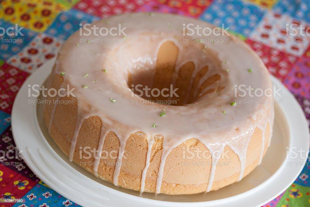 Cornmeal cake stock photo