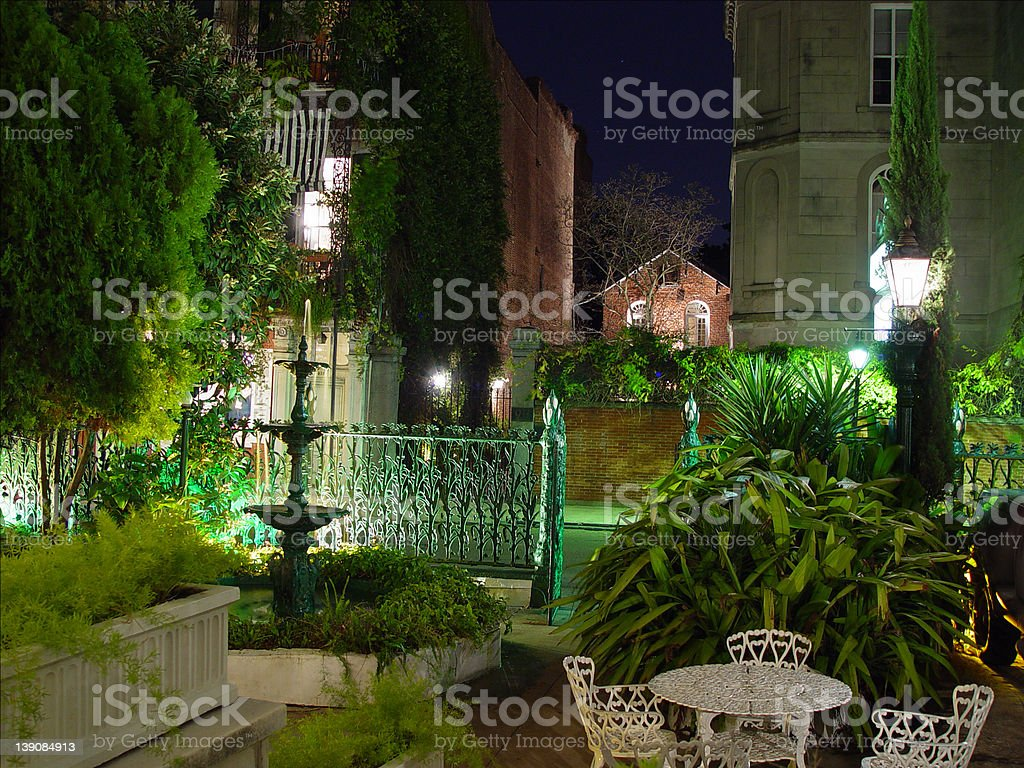 cornstock hotel in new orleans on royal street stock photo