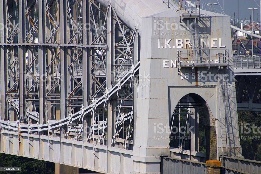 Cornwall, Brunels rail bridge stock photo