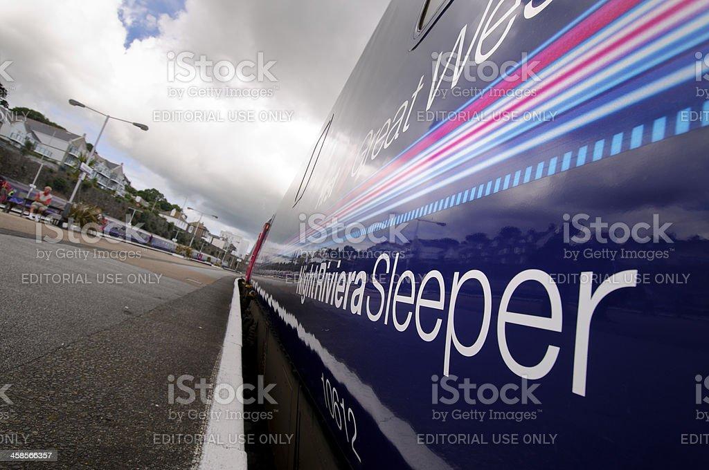 Cornwall Night Riviera Sleeper Train royalty-free stock photo