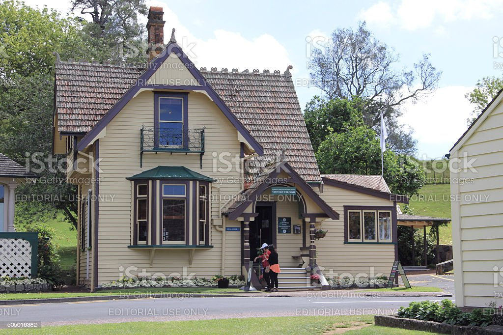 Cornwall Park, Information Centre in Auckland, New Zealand stock photo