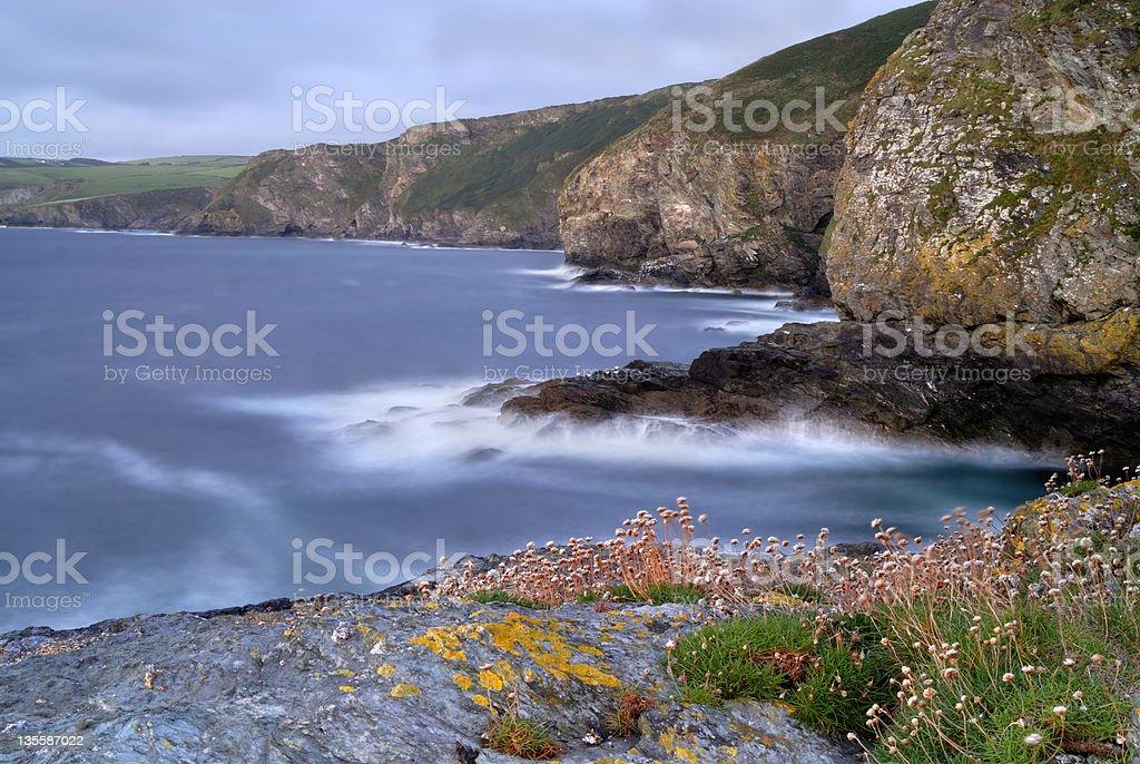 Cornwall Rocky Coast Seascape, UK royalty-free stock photo
