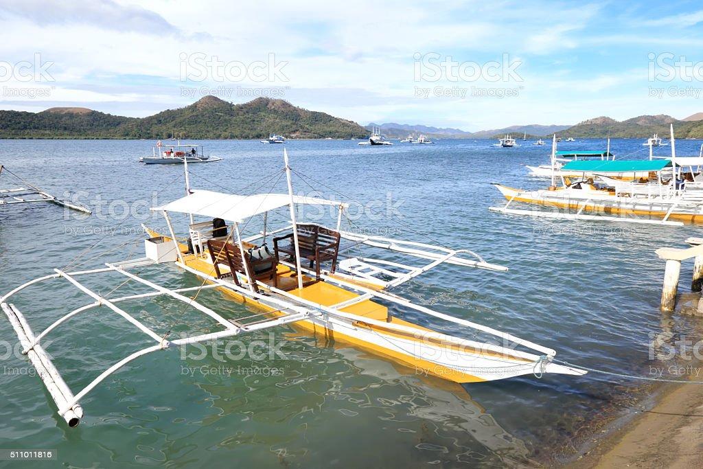Coron Island Harbor stock photo