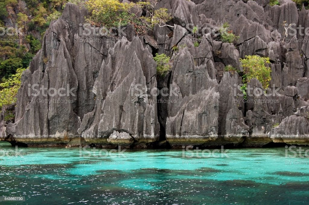 Coron island karst rocks, Palawan, Philippines stock photo