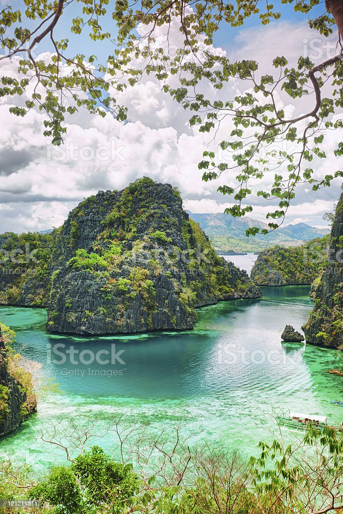 Coron lagoon stock photo