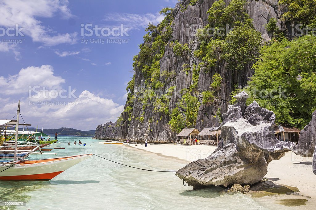Coron Palawan Beach Philippines stock photo