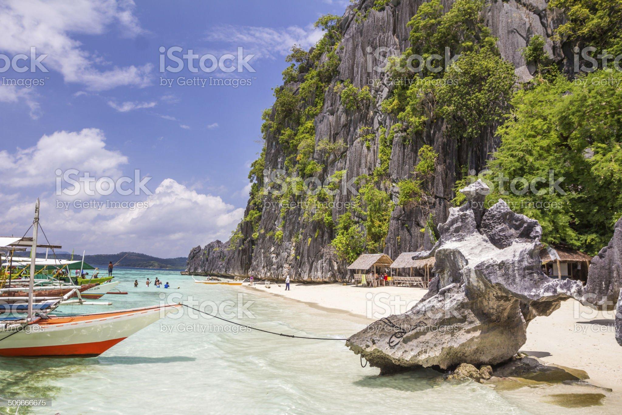 Coron Palawan Beach Philippines royalty-free stock photo