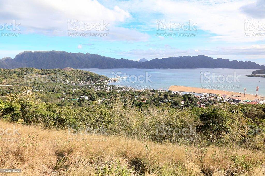 Coron panorama stock photo