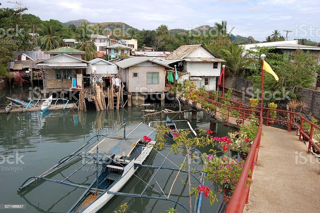 Coron town, Busuanga stock photo