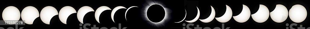 Corona and the whole Solar eclipse  03-29-2006 Turkey stock photo