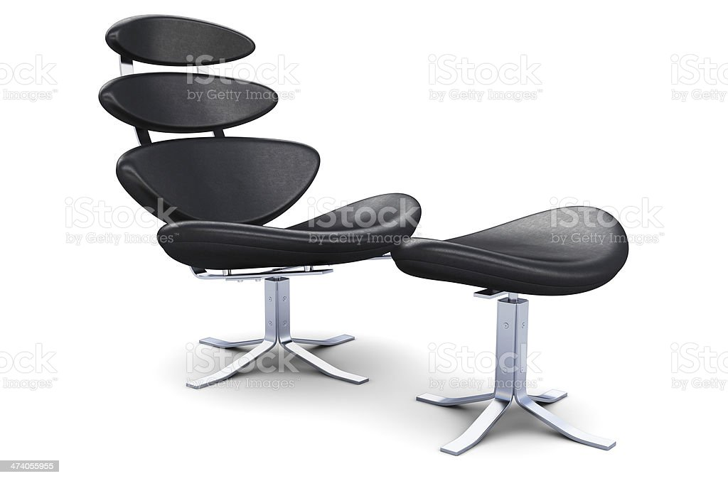 Corona Chair with Ottoman royalty-free stock photo