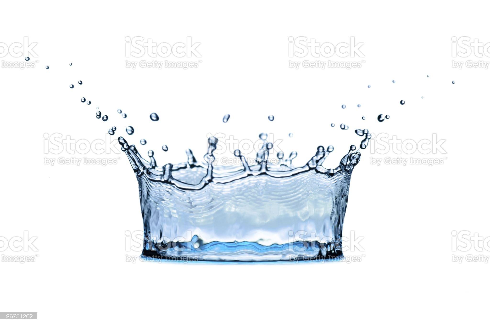 corona from of water royalty-free stock photo