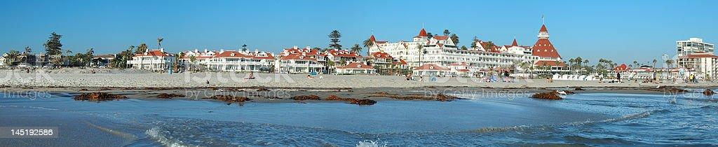 Coronado Hotel panorama stock photo
