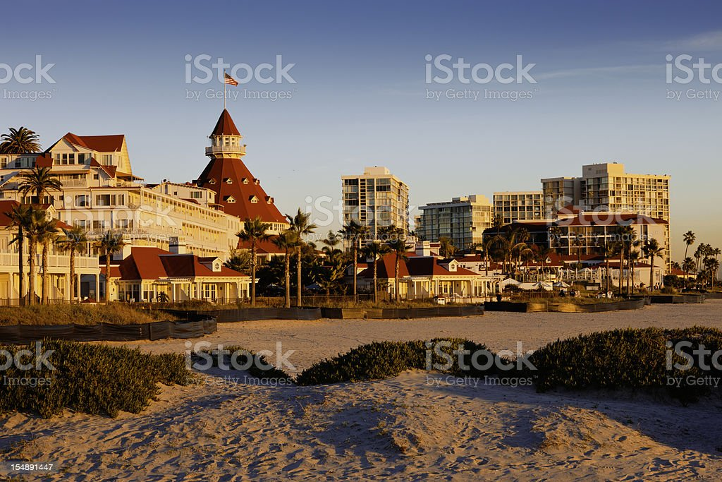 Coronado Island At San Diego royalty-free stock photo