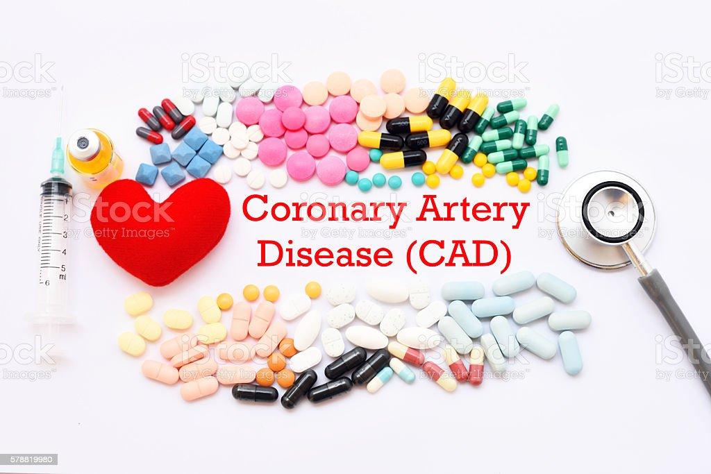 Coronary Artery Disease (CAD) stock photo