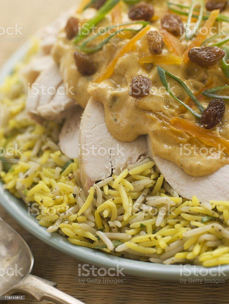 Coronation Chicken and Rice Salad stock photo