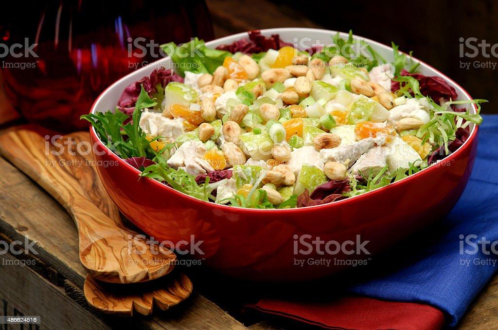 Coronation chicken salad stock photo