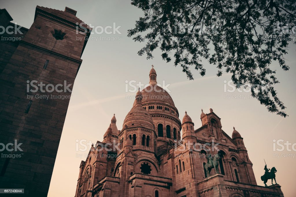 Sacre Coeur Cathedral stock photo