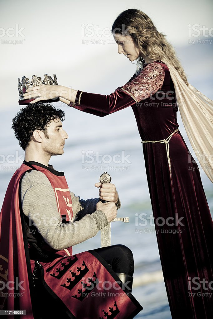 coronation king stock photo