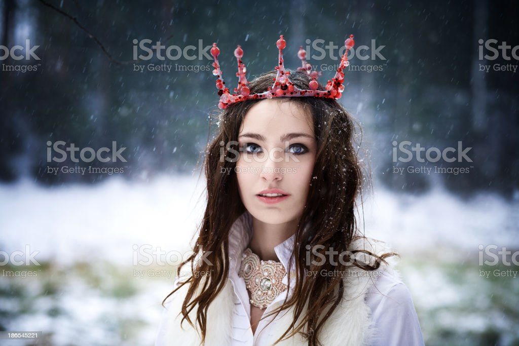 coronation of Queen royalty-free stock photo