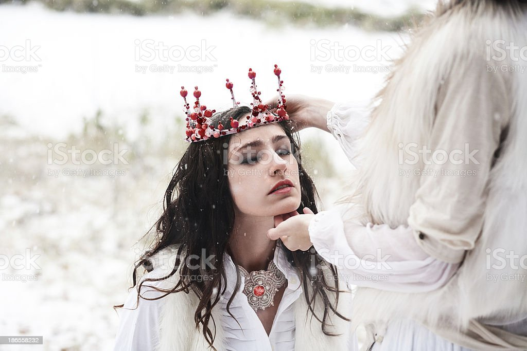 coronation of Queen stock photo