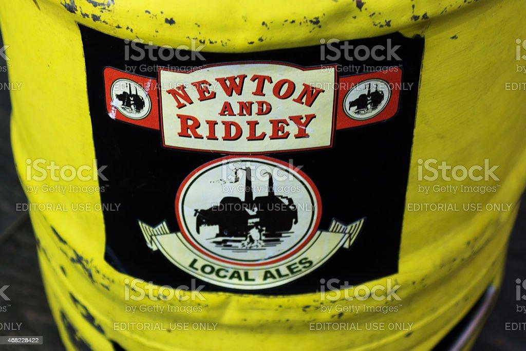 Coronation street beer barrel stock photo
