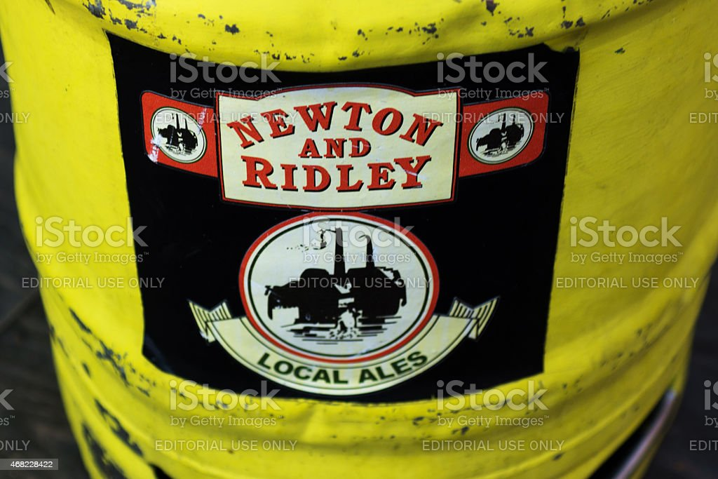Coronation street beer barrel stock photo