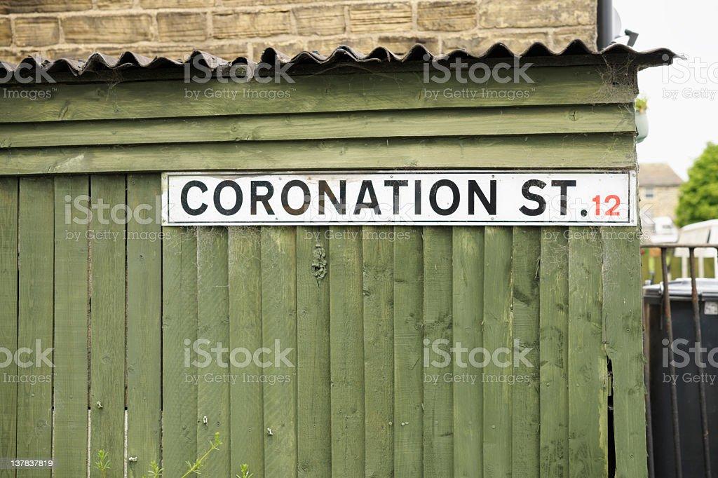 Coronation Street Sign royalty-free stock photo