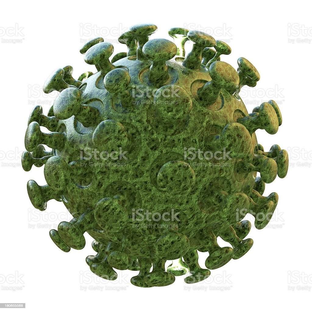 Coronavirus - 3d rendered illustration royalty-free stock photo