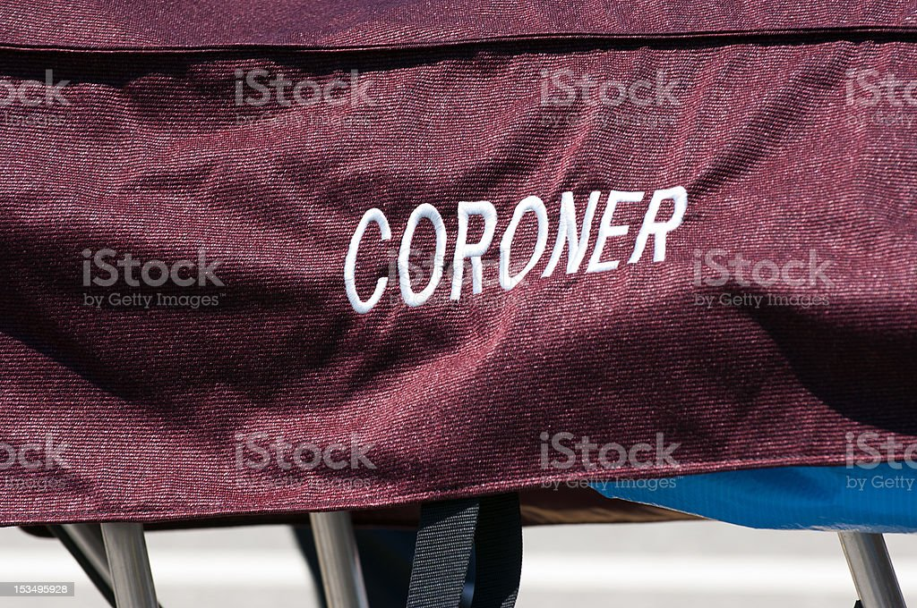 CoronerBodyCover royalty-free stock photo