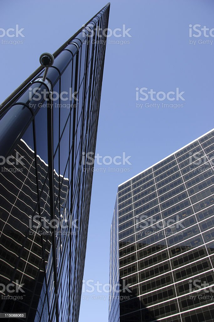 corporate angles skyscrapers royalty-free stock photo