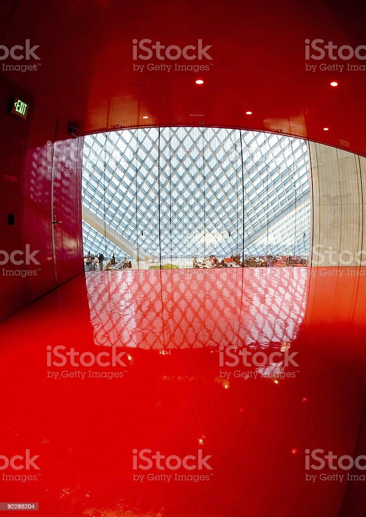 Corporate Architecture - Red Room 1 royalty-free stock photo