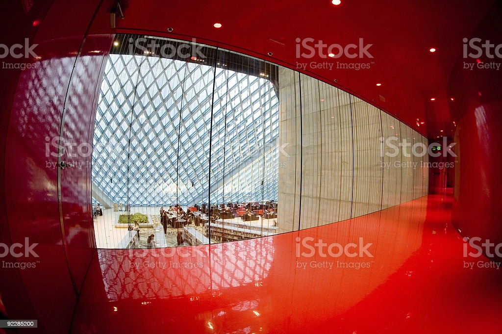Corporate Architecture - Red Room 3 royalty-free stock photo