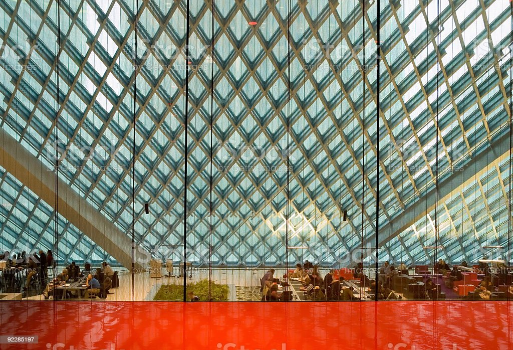 Corporate Architecture - Red Room 4 royalty-free stock photo