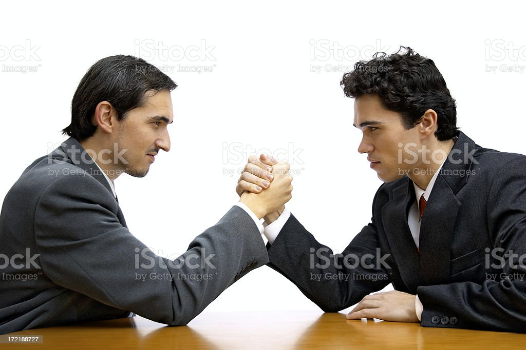 Corporate arm wrestling royalty-free stock photo