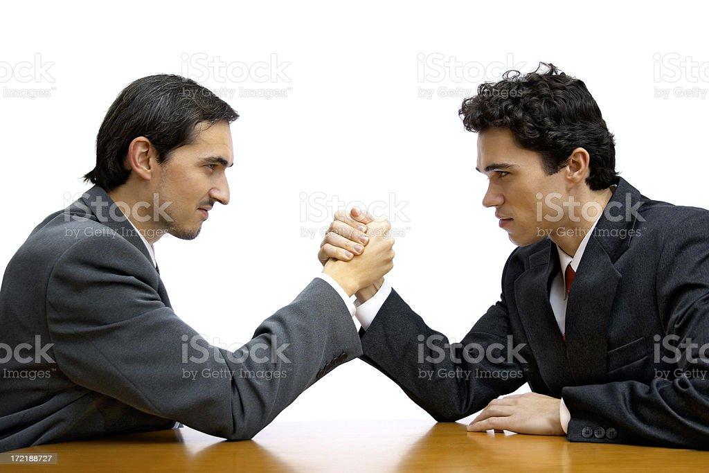 Corporate arm wrestling stock photo
