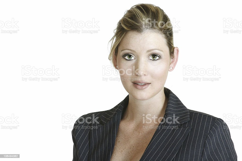 corporate blond woman royalty-free stock photo