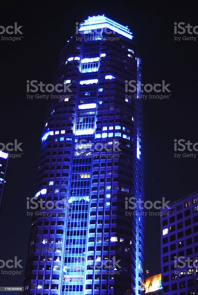 Corporate Blue Building royalty-free stock photo