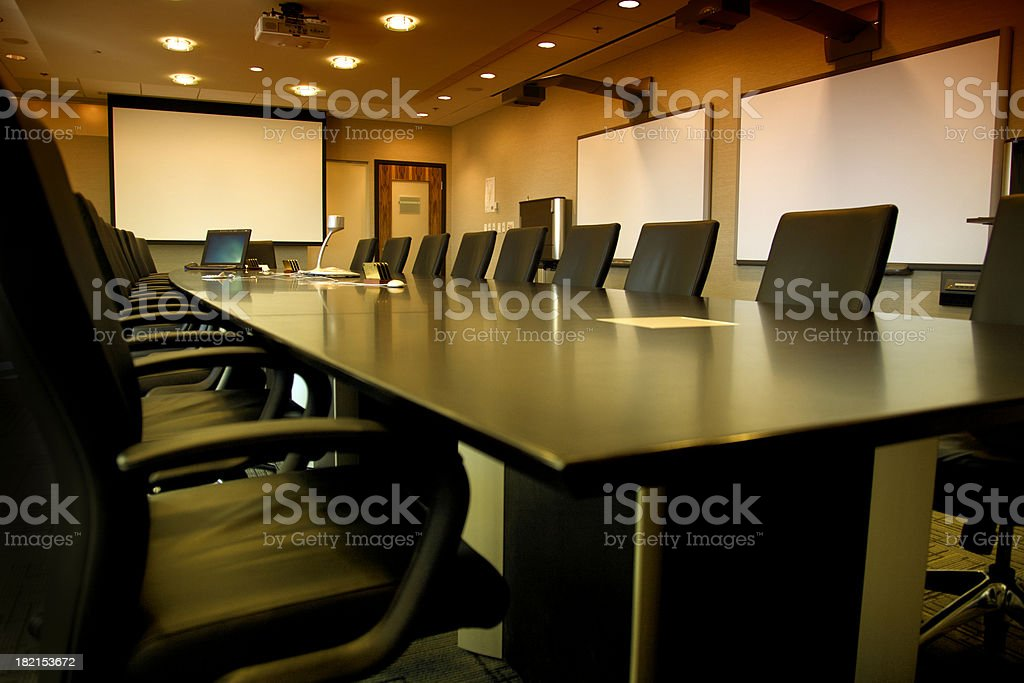 Corporate Board Room royalty-free stock photo