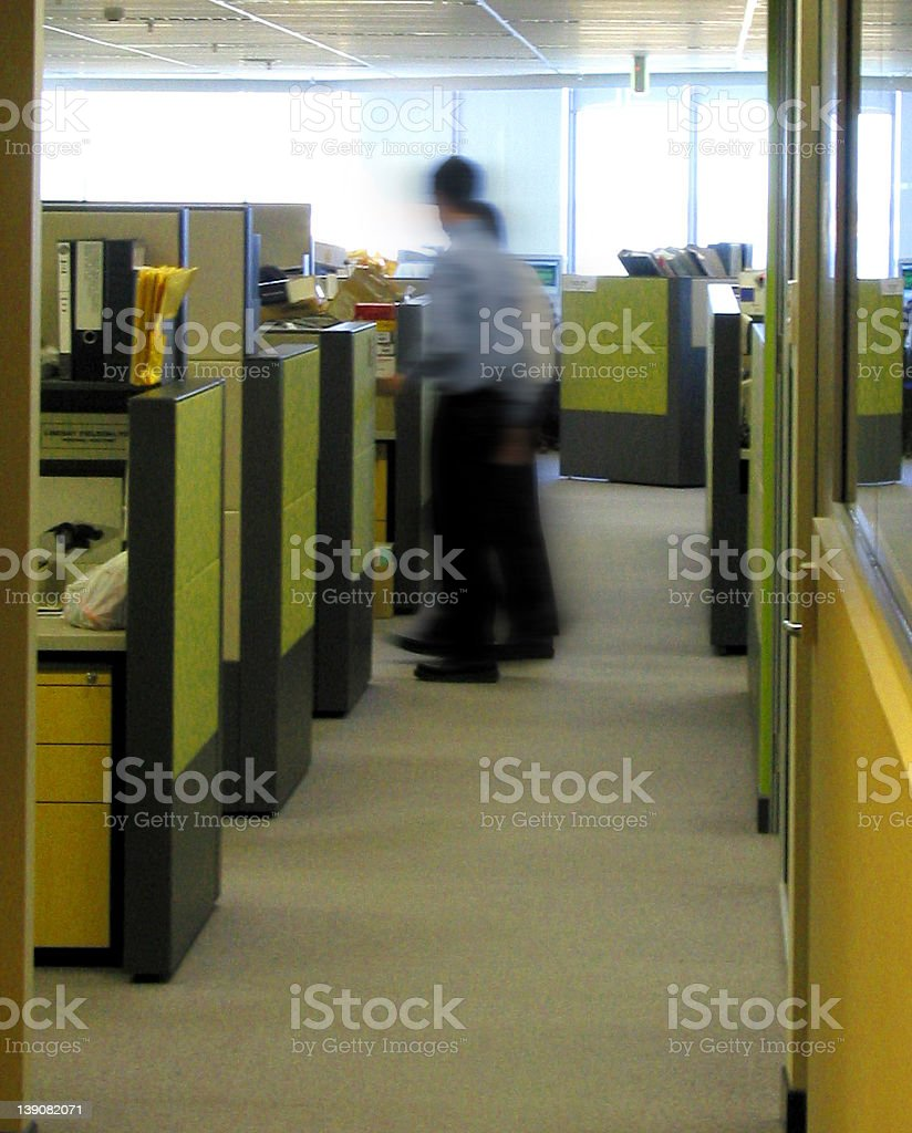 corporate - boring office shot stock photo