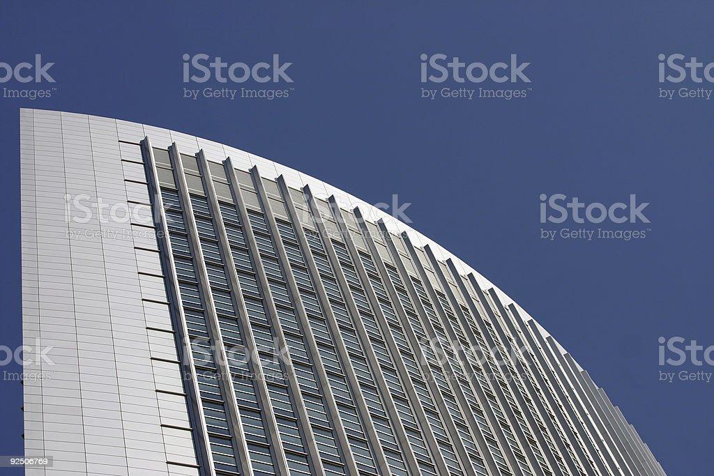 Corporate building, blue sky stock photo