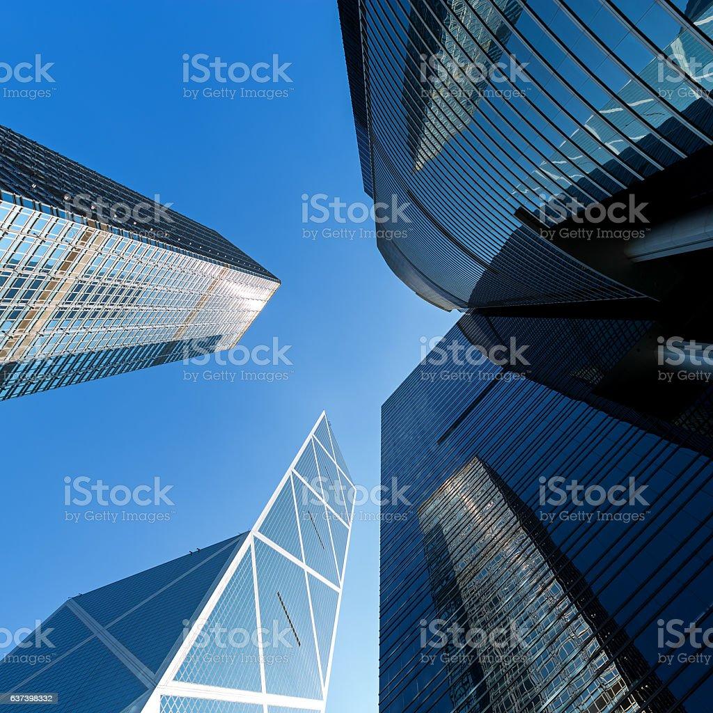 Corporate Buildings in Hong Kong stock photo