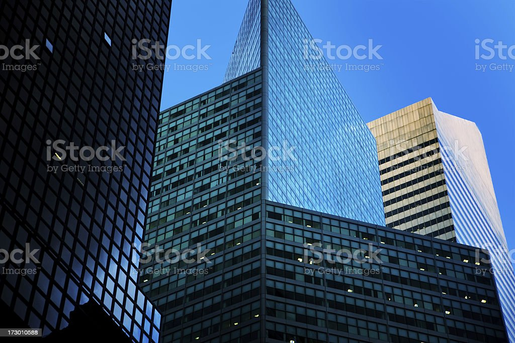 Corporate Buildings in NY royalty-free stock photo