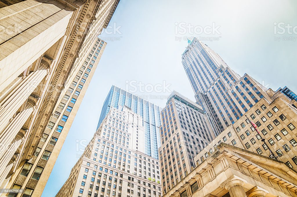 Corporate Buildings in NYC stock photo