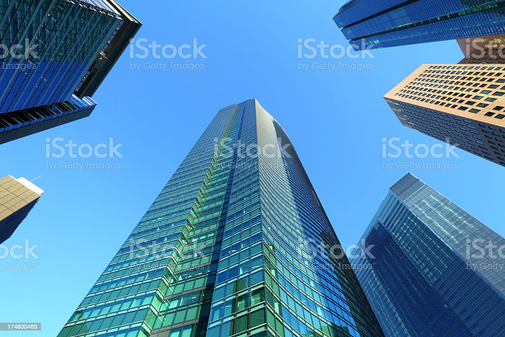 Corporate Buildings in Tokyo royalty-free stock photo